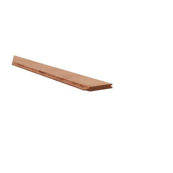 Hardhouten rabat 2,1 x 14,5 x 180 cm.