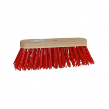 Bezem rood PVC